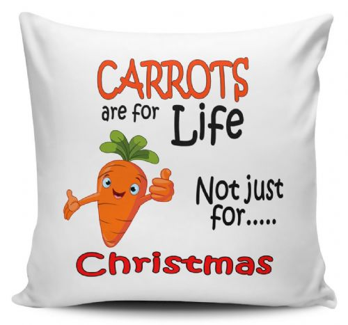 Carrots Are For Life Not Just For Christmas Funny Novelty Cushion Cover